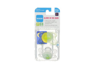 pacifier in new baby gift bundle