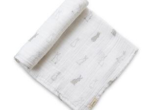Petit Pehr Swaddle Blanket in new baby gift bundle