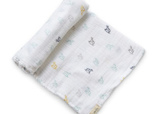 Petit Pehr Swaddle Blanket in new baby gift bundle