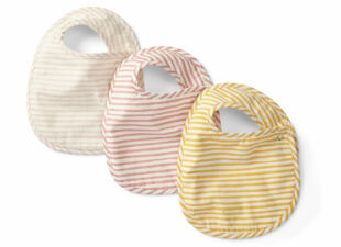 Petit Pehr baby bibs in new baby gift bundle