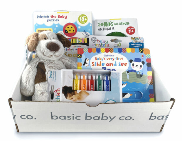Gift Bundle of baby toys and books for baby's 1st birthday